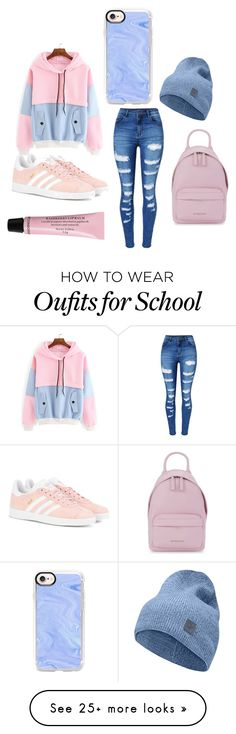 """Back to school"" by workmanhailey on Polyvore featuring WithChic, adidas Originals, Norrøna, Casetify, Givenchy and H&M"