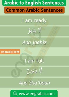 Short Arabic Phrases in English Arabic Verbs, Arabic Sentences, Arabic Phrases, English Sentences, English Grammar, Arabic Quotes, English Learning Books, English Writing Skills, Spanish Language Learning