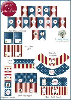 *Free* Boy Pirate Party Printable Collection