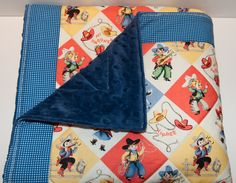 Retro cowboy Quilted