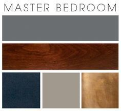 master bedroom paint colors I sort of stumbled upon this color scheme and I really like it - it's unexpected. The walls will be gunmetal gray and there will be spa green as the secondary color (in fabric). Home Bedroom, Bedroom Ideas, Navy Master Bedroom, Master Bedrooms, Teal And Copper Bedroom, Navy Bedroom Walls, Cherry Wood Bedroom, Navy Bedroom Decor, Blue And Gold Bedroom