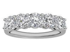 Five Stone  Diamond  Wedding Ring 1 carat