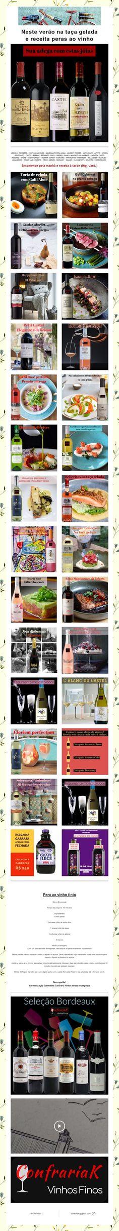 Neste verão na taça gelada e receita peras ao vinho Wine Pairings, Recipes