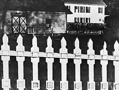 "Paul Strand Photo, ""The White Fence"" 1916 - Modern Design Heart Of The Storm, History Of Modern Art, Aperture Foundation, Straight Photography, White Fence, High Art, Fine Art Photo, Film Stills, Moma"