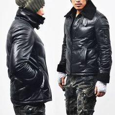 Men's style and fashion. Outerwear :: Leather Jackets :: Lambskin Shearling Down Parka-Leather 40 - Mens Fashion Clothing For An Attractive Guy Look ($510.00) - Svpply Raddest Looks On The Internet http://www.raddestlooks.net