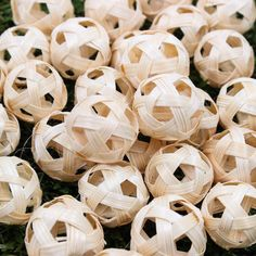 Takraw Handmade Weaving Craft DIY Decoration Ball Bamboo Wood Handcraft