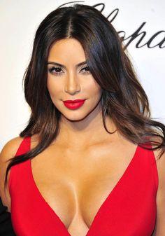 Kim Kardashian makeup Oscars 2014