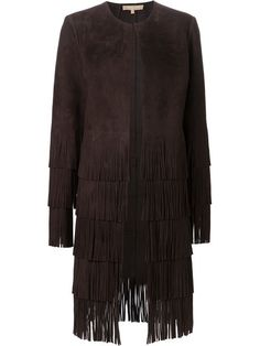 Shop Michael Kors suede fringe coat in  from the world's best independent boutiques at farfetch.com. Over 1000 designers from 300 boutiques in one website.
