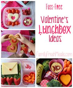 Fuss Free Valentine Lunchbox Ideas - Family Fresh Meals - It's almost Valentine's day and that means I have an excuse to go nuts with all th...