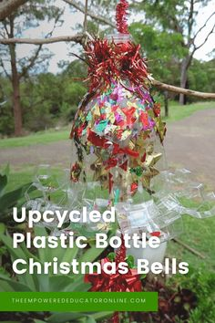 upcycled christmas bottles Christmas Bells, Christmas Diy, Family Day Care, Christmas Activities, Baby Crafts, Toddler Preschool, Early Learning, Plastic Bottles, Early Childhood