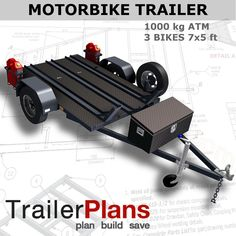 This is a detailed set of plans, drawings and assembly guide for the construction of aHeavy Duty single axle MOTORBIKE Trailer. Professionally prepared, the plans feature all the necessary detail to help you construct a strong and durable motorbike trailer. | eBay!