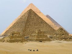 the pyramids view with the three pyramids together powered by egypttravel.cc