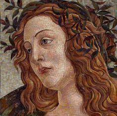 Copy portrait mosaic of Botticelli by Artmonument. Mosaic Designs, Mosaic Patterns, Mosaic Portrait, Mosaic Artwork, Historical Art, Roman Empire, Portraits, Mosaic Tiles, Art Forms