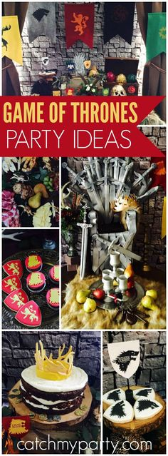 So many great ideas at this Game of Thrones party! See more party ideas at CatchMyParty.com!