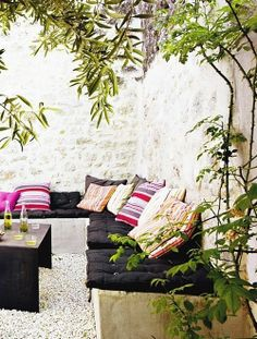 Summer days are all about love and joy. Make some place in your garden where you can enjoy in the hot summer days. Put some pillows  in different colors and
