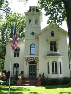 Historic Cronin House in John Bellair's boyhood town of Marshall, MI, was the inspiration for the House With a Clock in its Walls