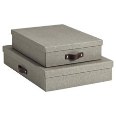 Grey Marten Office Storage Boxes - fill with mementos and sweet notes