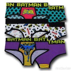Batman Colorful Womens Panty 3-Pack Apparel DC Comics