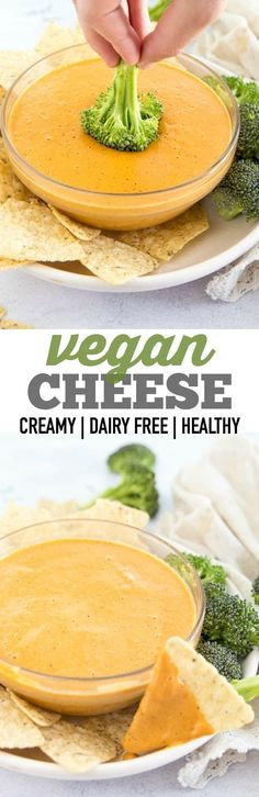 Vegan Cheese that is perfect for a veggie dip, pouring on nachos, smothering your burritos and potatoes with. An easy dairy free recipe that comes together in no-time.