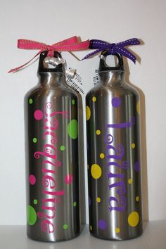 Precious Water Bottles- personalized your way,party favors, team party,gifts for kids.