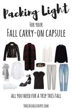 Packing List for Fall // Carry-On Packing List // How to Pack for a Weekend // Carry-On Capsule Wardrobe // Fall Packing List // Fall Wardrobe