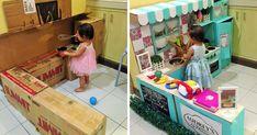 Cómo crear una mini-cocina de cartón para tu peque | Bored Panda