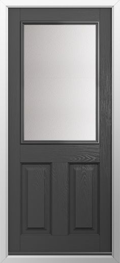 Composite Door 2 Panel 1 Square Style In Anthracite Grey High Quality Secure