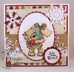 Cocco with Present, Little Christmas Collection, Magnolia stamps