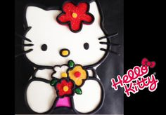 Hello Kitty Cake!  Learn how to make her yourself here - http://youtu.be/pGFq4B296Ao