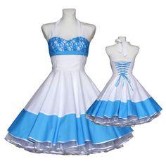 a1cdb48d871c Wedding dress 50 s Vintage style white by Lolablossomclothing  Hochzeitskleid Rockabilly