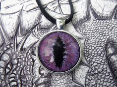 Excited to share the latest addition to my #etsy shop: Dragon jewelry, Purple dragon eye necklace. Glass eye pendant, Dungeons and dragons, dragon eye pendant, Third eye pendant, Eye jewelry, https://etsy.me/2KfJgEO #jewelry #necklace #purple #glass #girls #silver #evi