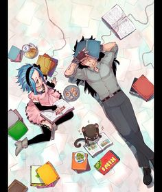 Tags: Anime, FAIRY TAIL, Levy McGarden, Kiwi (Fruit), Gajeel Redfox, Rusky-boz, Pantherlily