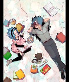 Tags: Anime, FAIRY TAIL, Levy McGarden, Kiwi (Fruit), Gajeel Redfox, Rusky-boz, Pantherlily