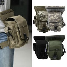 Outdoor Tactical Military Drop Leg Bag Panel Utility Waist Belt Pouch Bag DE #UnbrandedGeneric