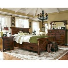 Love... Love! Simply Amish B and O Railroad Queen Size Trestle Bridge Panel Bed