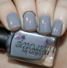 PRECIOUS METAL from the  P-COLLECTION - COLORS BY LLAROWE: dove grey crelly w/intense copper shine (3 thin coats)