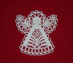 Lace Angel Christmas Ornament by HeirloomCrochet on Etsy