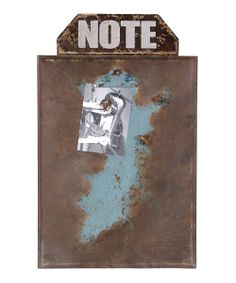 Brown & Green 'Note' Message Board