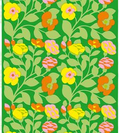 Marimekko's Green-Green fabric, created in 1975 by Japanese designer Katsuji Wakisaka.