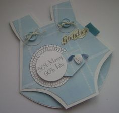 baby card in shape of baby jumper...to cute + creative
