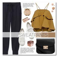"""Comfort is Key: Sweatpants"" by merima-kopic ❤ liked on Polyvore featuring Uniqlo, Rachel Comey, Santoni, Boohoo, Lipsy, lilah b., CC, Charlotte Tilbury, contest and sweatpants"