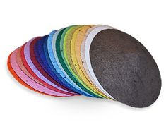 Circle of  Life kippot that are made from 100% recycled, 100% recyclable, and 100% biodegradable seed paper that can be planted after your child's service and then a beautiful garden will grow from your Kippot!