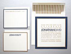 Modern, square invitation www.cameleon-design.ca