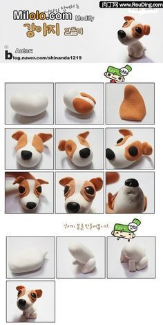 *** cute! .... polymer clay PUPPY tutorial  ...loads of step-by-step visual tutorials here!