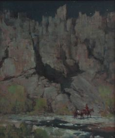 $5,600.00 Shoshone Canyon Walls : Oil : Todd Connor- feast for the eyes