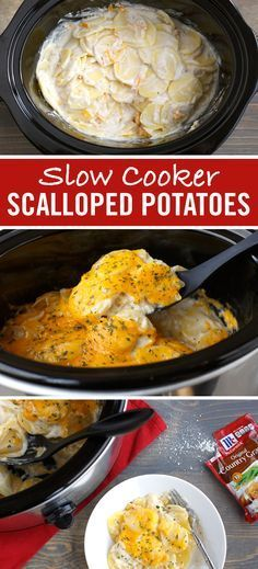 Enjoy this warm, cheesy scalloped potatoes recipe. This slow cooker side dish uses just a handful of basic ingredients including the savory flavor of Original Country Gravy. Serve slow cooker scalloped potatoes as a holiday side dish or for last minute entertaining.
