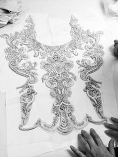 Fashion Atelier - intricately beaded embroidery for a haute couture dress // Catherine Deane