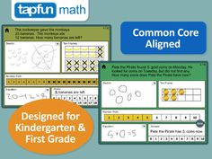Math Word Problems - Addition and Subtraction for Kindergarten and First Grade ($0.00) Questions =to 10 and questions to 20. Ea. question includes:  • A space to sketch the problem & write the full equation.  • A ten frame & number path to show work.  • An answer keyboard.  Tracks how many questions out of 10 the students answer correctly on 1st attempt.