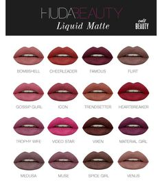 Huda beauty liquid matte lipsticks