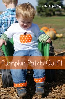 B is for Boy!: Pumpkin Patch Outfit